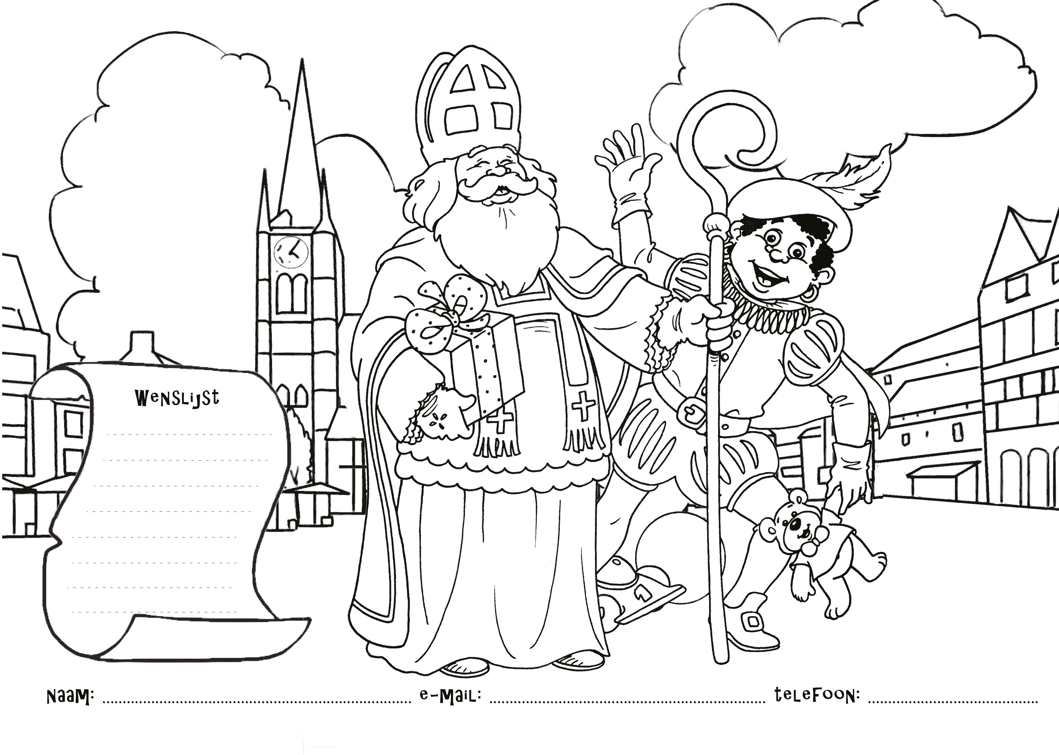 Maak Een Mooie Tekening Voor De Sint En Ontvang Een Leuk
